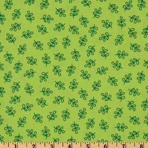 44 Wide Michael Miller Nordic Holiday Holly Folly Green