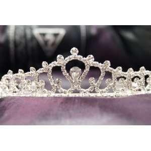 Princess Bridal Wedding Tiara Crown with Clear Crystal