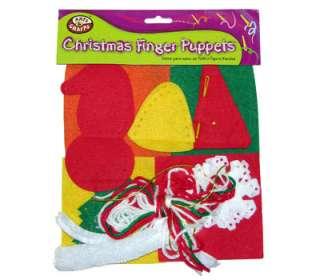 Felt Ornament Christmas Finger Puppets Craft Kit Set for Kids Winter