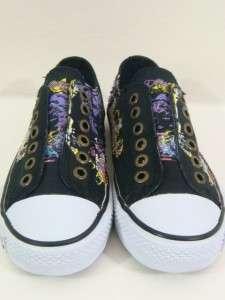 Ed Hardy women geisha black rhinestones sneakers shoes NEW
