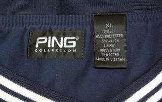 Navy Golf Shirt Jacket XL Windbreaker Windshirt Pulte Homes