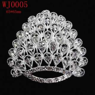 2012Hottest styles Charming Wedding/Bridal Czech Crystal Brooch Pin In
