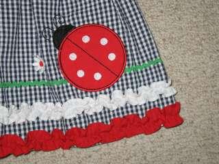 NEW Ladybug Ruffle Sun Dress Girls Summer Clothes 12m Spring Infant