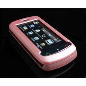 BABY PINK Hard Plastic Full View Rubber Feel Cover Case w