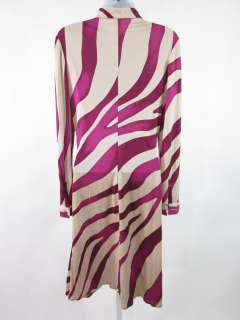 You are bidding on a GIANNI VERSACE Purple Silk Zebra Print Shirt