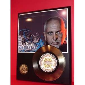 Gold Record Outlet Peter Gabriel 24kt Gold Record Display
