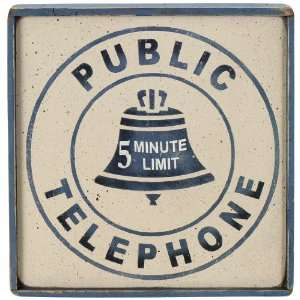 Telephone Sign   Public Telephone Patio, Lawn & Garden