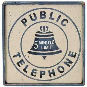 Telephone Sign   Public Telephone Patio, Lawn & Garden
