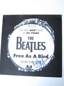 Beatles Free as a Bird rare promo album flat Jeff Lynne ELO