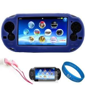 Blue Premium Protective Silicone Skin Cover for New Sony PSP