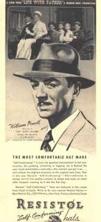1947 ad lg a resistol hats william powell