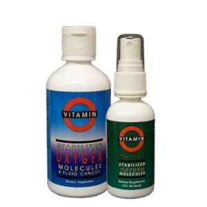 Vitamin O Electrically Activated Oxygen Supplement 4 oz. Drops and 2
