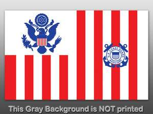 Coast Guard Ensign Auxiliary Flag Sticker   decal logo