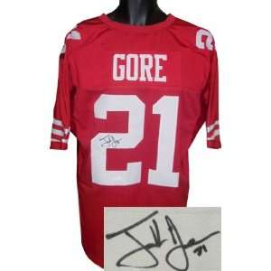 Frank Gore signed San Francisco 49ers Red Prostyle Jersey