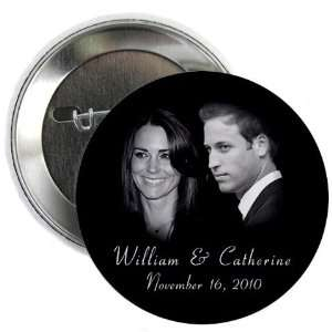 Prince William Kate Middleton Royal Engagement 2.25 Pinback Button
