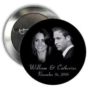 Prince William Kate Middleton Royal Engagement 2.25 Pinback Button