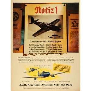 1944 Ad North American Aviation Inc P 51 Mustang Fighter Aircraft