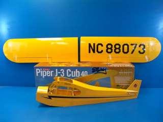 Hangar 9 J 3 Piper Cub 40 ARF R/C RC Airplane Electric Glow HAN4000