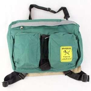 Green Dog Puppy Nylon Expandable Backpack Travel Bag