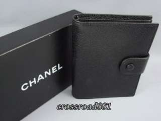 Authentic Chanel Black Caviar Skin Leather Wallet Great Condition