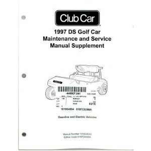 Car DS Golf Car Maintenance And Service Manual Supplement Club Car