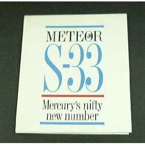 1962 62 Mercury METEOR S 33 S33 BROCHURE Everything Else
