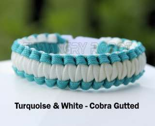 Paracord Bracelet Cobra Gutted   Thin Blue Line Police