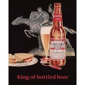 Vintage   Budweiser Beer Canvas: Home & Kitchen