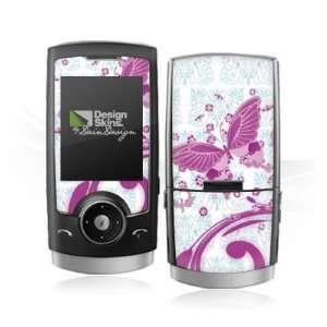 Design Skins for Samsung U600   Pink Butterfly Design