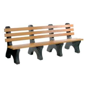 Central Park Recycled Plastic Outdoor Bench 8 L Patio, Lawn & Garden