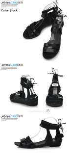 New Womens Aqua Summer Jelly Lovely Ankle Strap Sandals Heels Multi