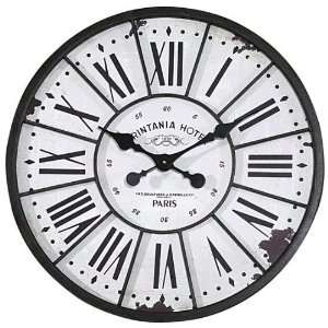Southampton Clock   24round x2d, Black Home & Kitchen