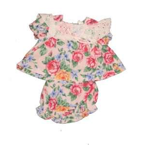 Baby Girl 12 Months, Floral Old Fashioned Home Made Frock