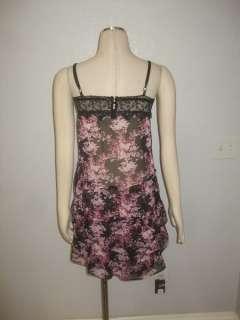 Free People Anthropologie Black Floral Feminine Sheer Dress XS