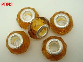 Wholesale Bulk European Charms Glass Crystal Faceted Beads Fit