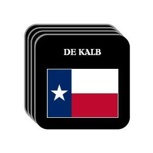 US State Flag   DE KALB, Texas (TX) Set of 4 Mini Mousepad