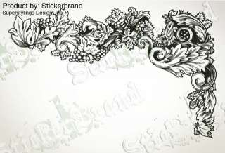 Vinyl Wall Decal Sticker Flower Leaves Pattern 77x49