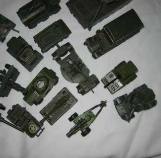 OF VINTAGE DIECAST AND PLASTIC TOOTSIE TOY HOT WHEEL MILITARY VEHICLES