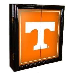 Tennessee UT Vols Volunteers MVP Framed Dart Board Cabinet