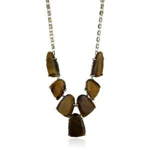 Kendra Scott Candy Jewels 14K Gold Plated Tigers Eye Harlow Necklace