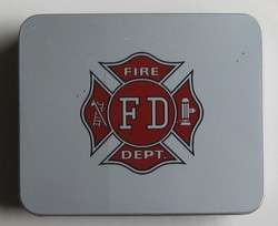 Firefighters Fire Department Knife and Key Ring #2