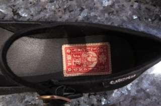 LUCKY BRAND Womens Black Leather Flat Designer Suede 6.5M