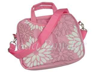 Pink Flower Carrying Sleeve Case for 10.1 10.2 Netbook