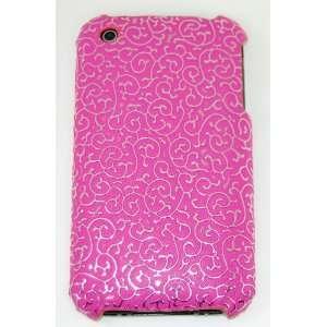 KingCase iPhone 3G & 3GS Hard Case (Hot Pink & Silver) 8GB, 16GB, 32GB