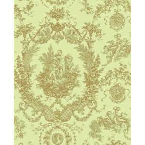Toile Mint Wallpaper by Blue Mountain in Shand Kydd (Double Roll
