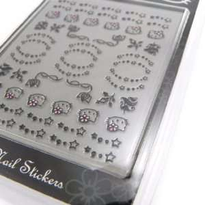 Plank nail stickers Hello Kitty flowers stars.