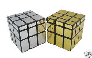 New Mirror Block Rubik Type Cube Puzzle Toy (Silver & Gold) E002C