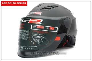 LS2 Motorcycle Helmet Open Half Face Flip Up Visors shield 4 colors
