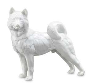 Royal Copenhagen Whites Figurine, Siberian Husky Dog