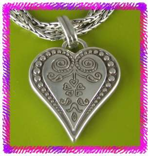 BRIGHTON Silver FRENCH QUARTER Heart NECKLACE NWotag